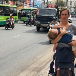 auf den Straßen von HCMC